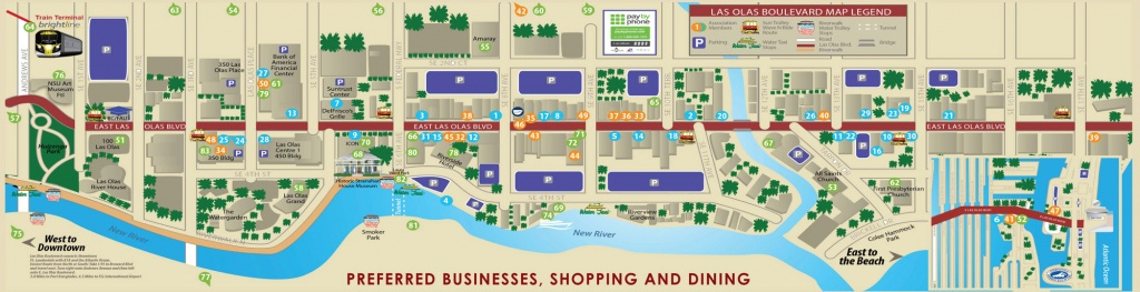 Las Olas Map & Directory | Best Restaurants, Shops & Things To Do - Street Map Of Fort Lauderdale Florida