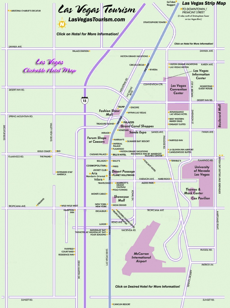 Las Vegas Map, Official Site - Las Vegas Strip Map - Printable Las Vegas Strip Map 2017