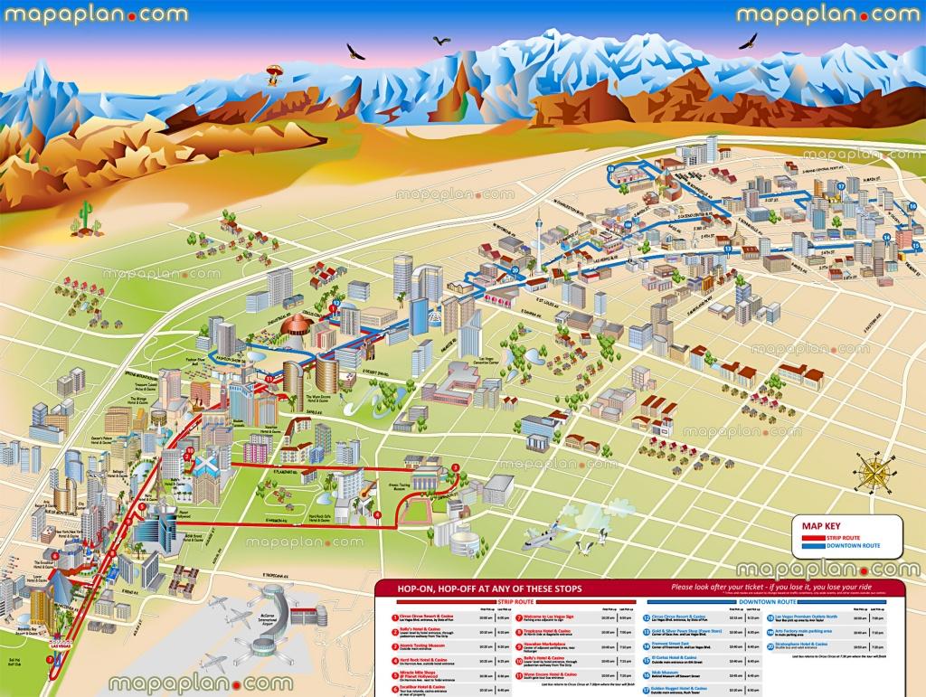 Las Vegas Maps - Top Tourist Attractions - Free, Printable City - Las Vegas Printable Map