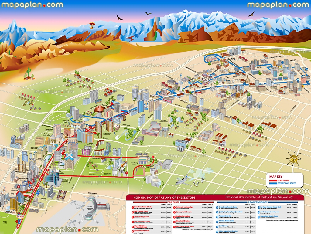 Las Vegas Maps - Top Tourist Attractions - Free, Printable City - Las Vegas Tourist Map Printable