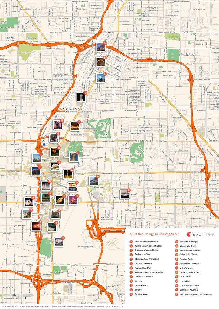 Las Vegas Printable Tourist Map   Sygic Travel - Las Vegas Printable Map