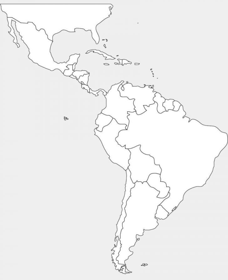 Blank Map Of The Americas Printable