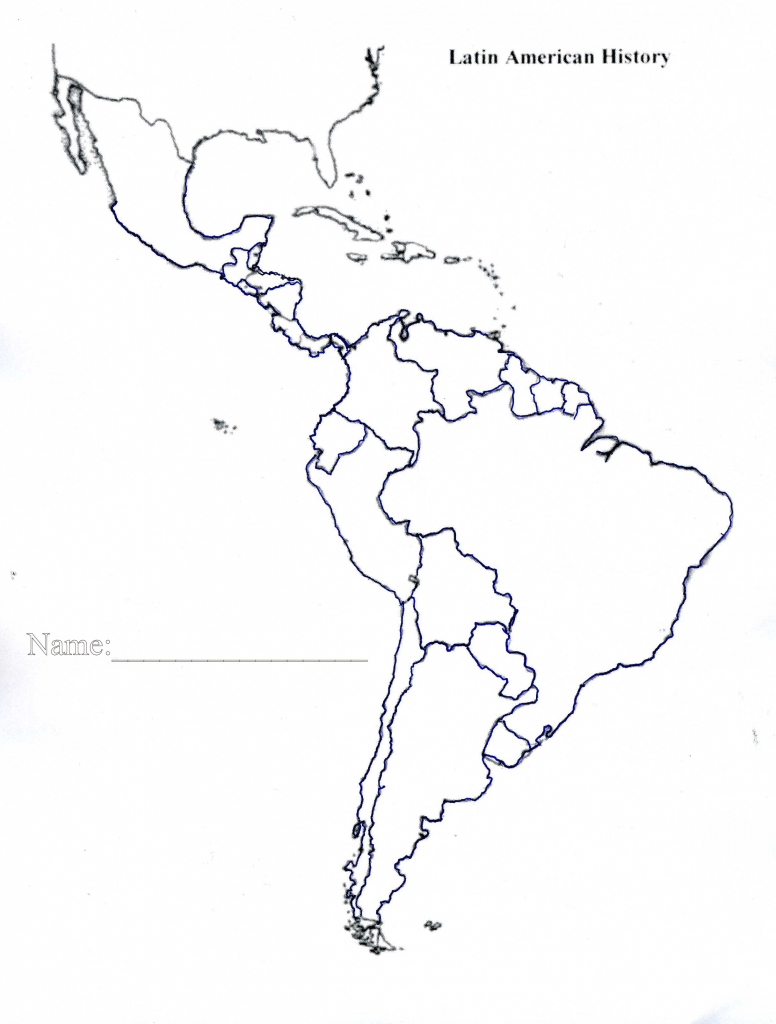 Latin America Map Quiz Printable Blank Of Us And South Central 7 - Latin America Map Quiz Printable