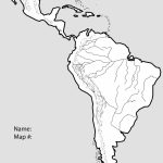 Latin America Map Study Capitals Of North And South America Blank - Free Printable Map Of South America