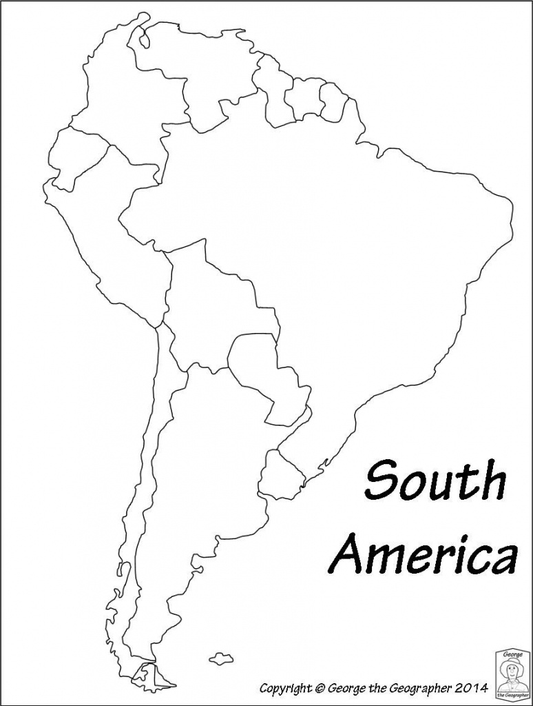 Latin America Printable Blank Map South Brazil Maps Of Within And - Printable Blank Map Of South America
