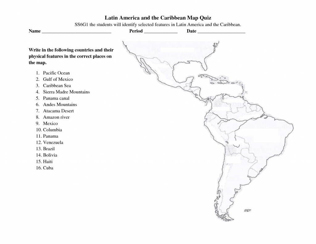 Latin America Printable Blank Map South Brazil The And Best Of Quiz - Latin America Map Quiz Printable