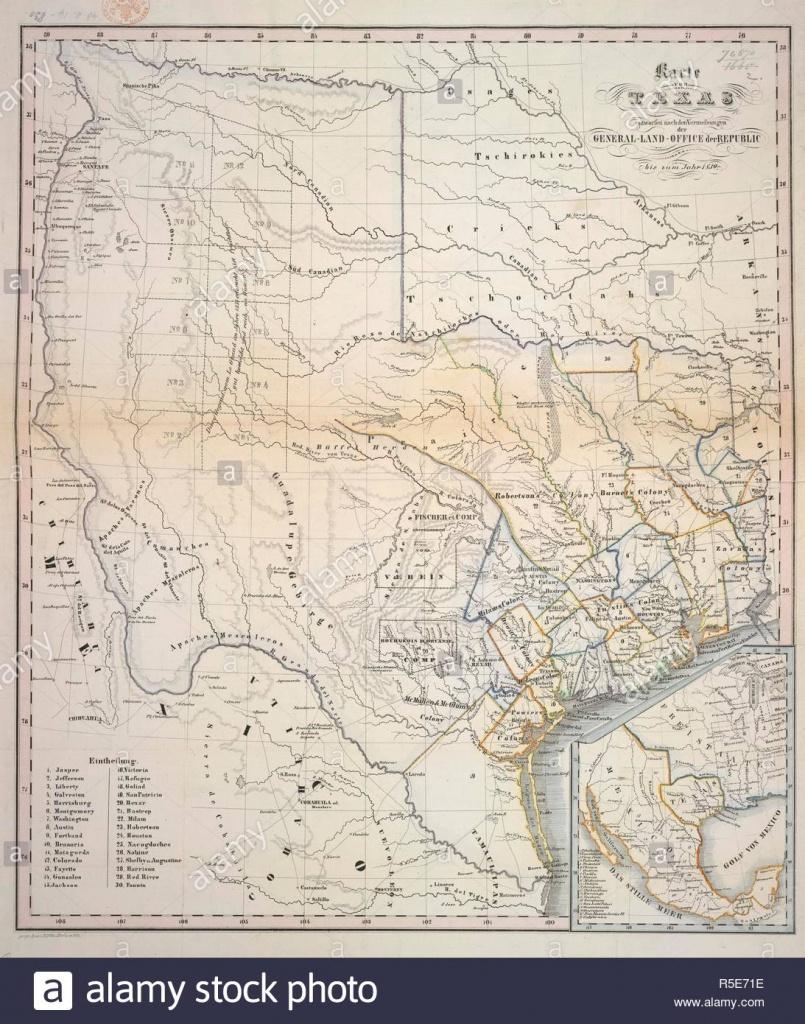 Le Texas. Karte Von Texas, Entworfen Nach Den Vermessungen D - Texas Land Office Maps