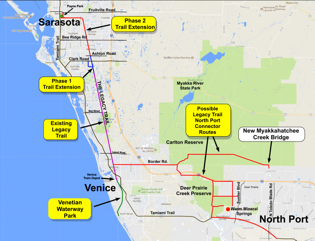Legacy Trail Connector To North Port   Friends Of The Legacy Trail - Where Is Northport Florida On The Map