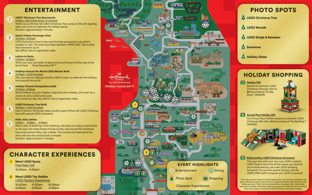 Legoland Florida Christmas Map - Coaster Kings - Legoland Florida Map