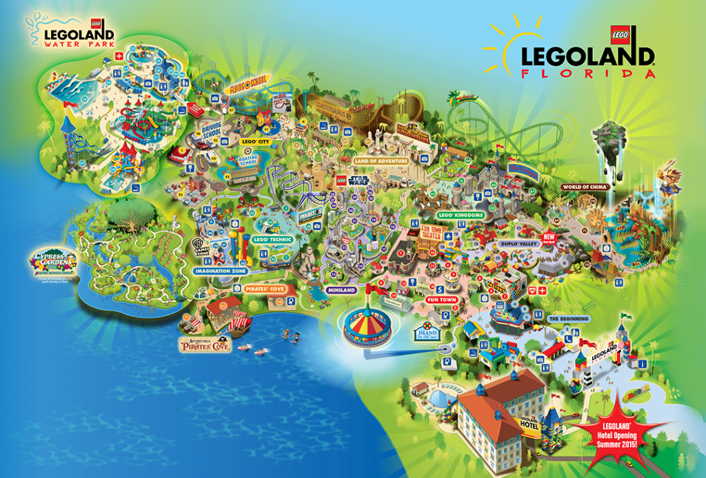 Legoland® Florida Is A 150-Acre Interactive Theme Park With More - Legoland Florida Hotel Map