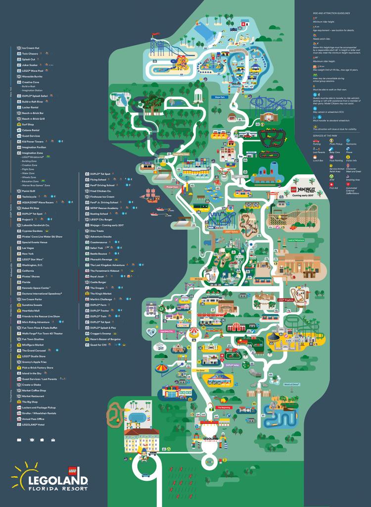 Legoland Florida Map 2016 On Behance - Legoland Printable Map