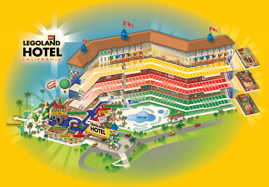 Legoland Hotel, California On Behance - California Hotel Map