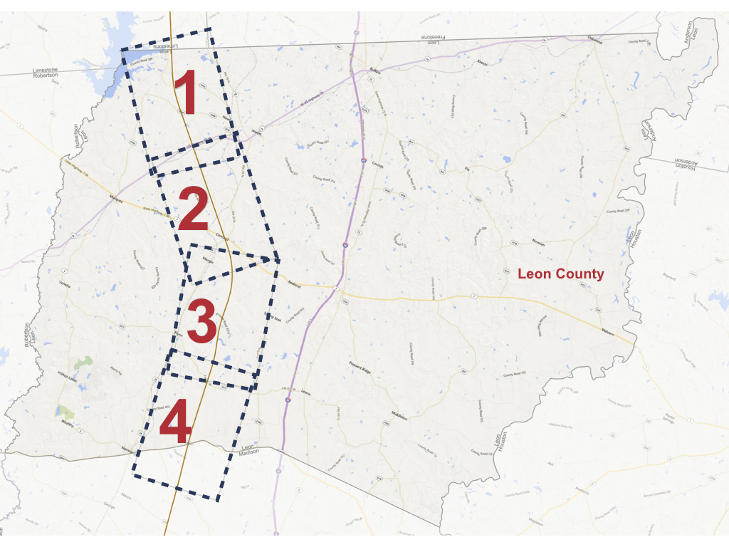 Leon County Alignment Maps - Texas Central - Texas Bullet Train Route Map