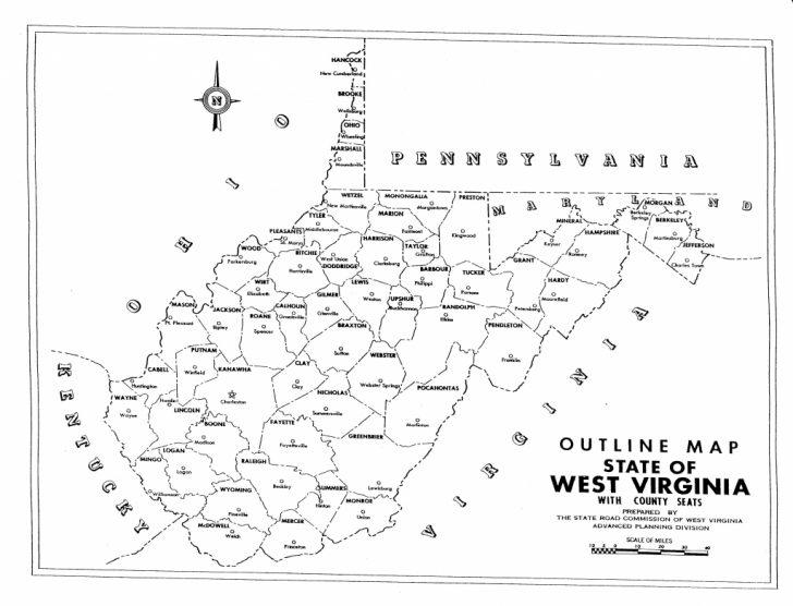 Virginia County Map Printable