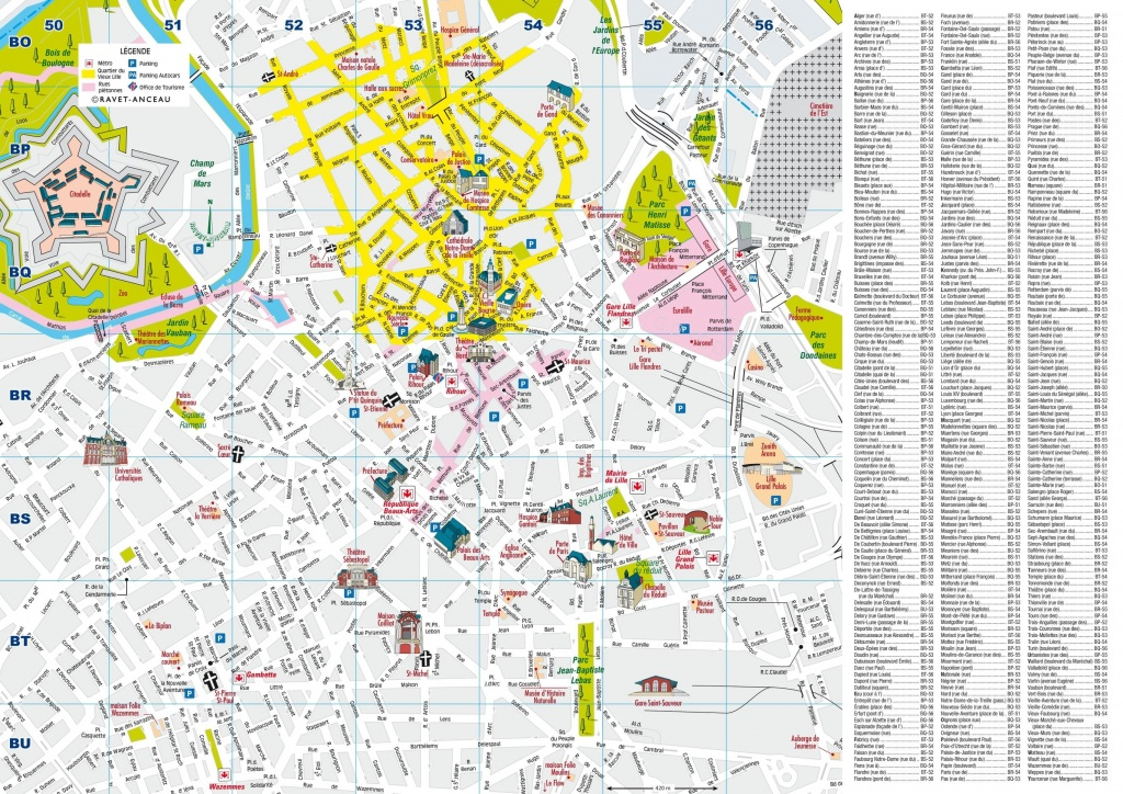 Lille City Centre Map - Printable Map Of Lille City Centre (Hauts-De - Printable Map Of Lille City Centre