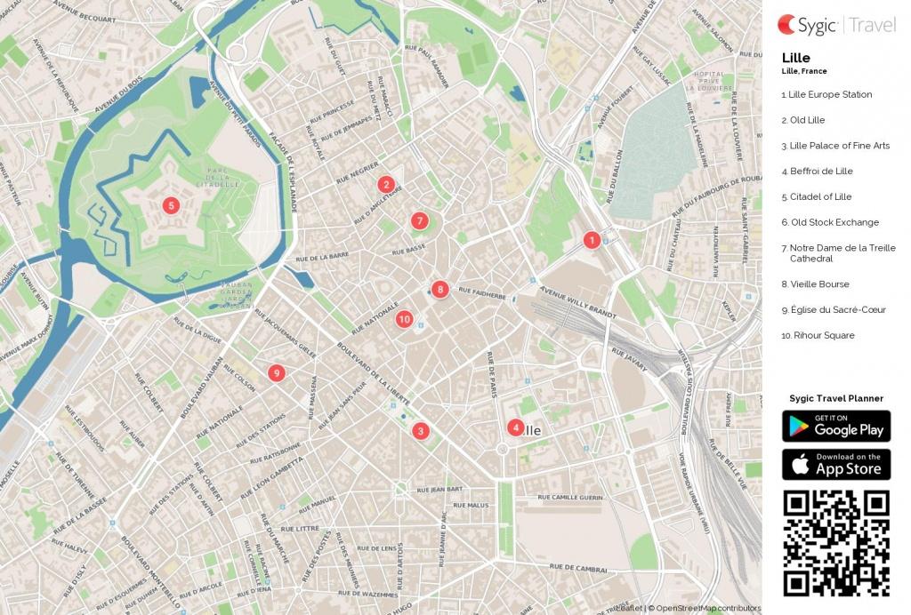 Lille Tourist Map - Lille Tourist Map Pdf (Hauts-De-France - France) - Printable Map Of Lille City Centre