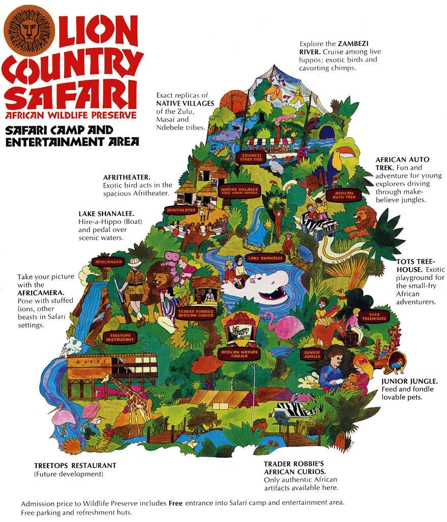 Lion Country Safari (197/8X)   Laguna Hills / Irvine / Los A…   Flickr - Lion Country Safari Florida Map