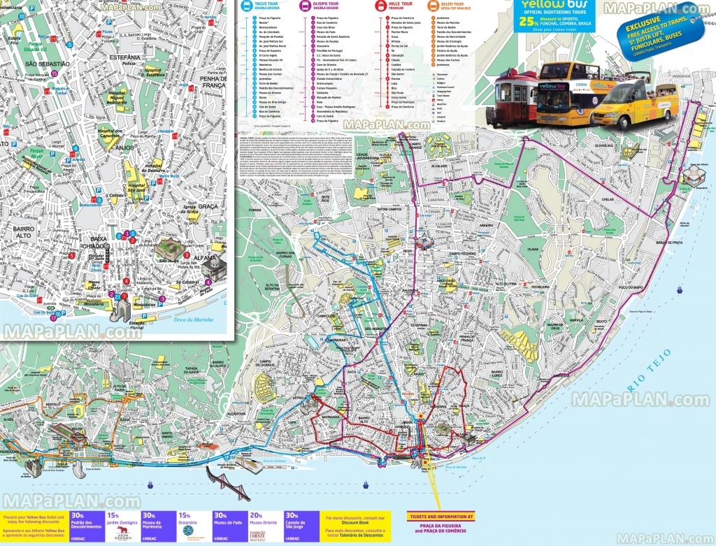 Lisbon Maps - Top Tourist Attractions - Free, Printable City Street Map - Lisbon Tourist Map Printable