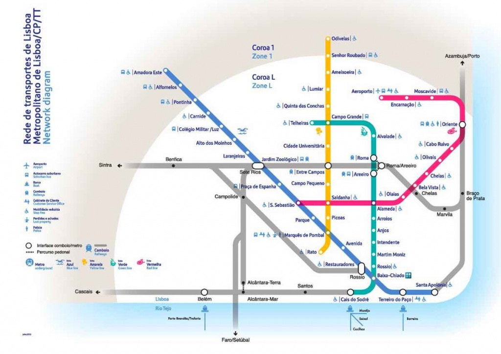 Lisbon Travel Blog: A Complete City Guide For 2019 (Lots Of Local Tips!) - Lisbon Metro Map Printable