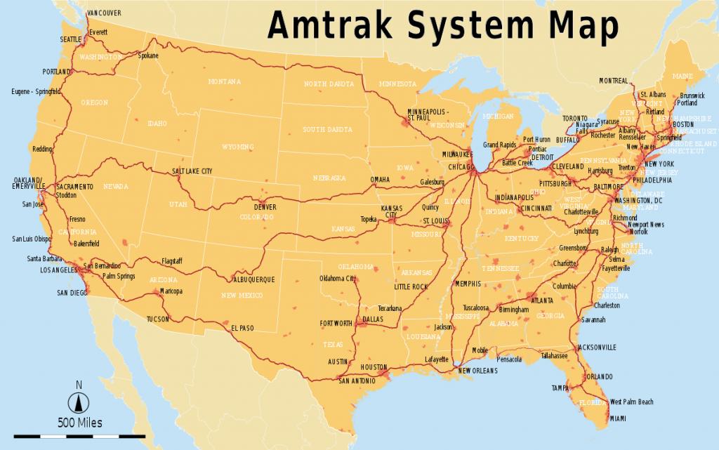 List Of Amtrak Routes - Wikipedia - Amtrak Train Map California