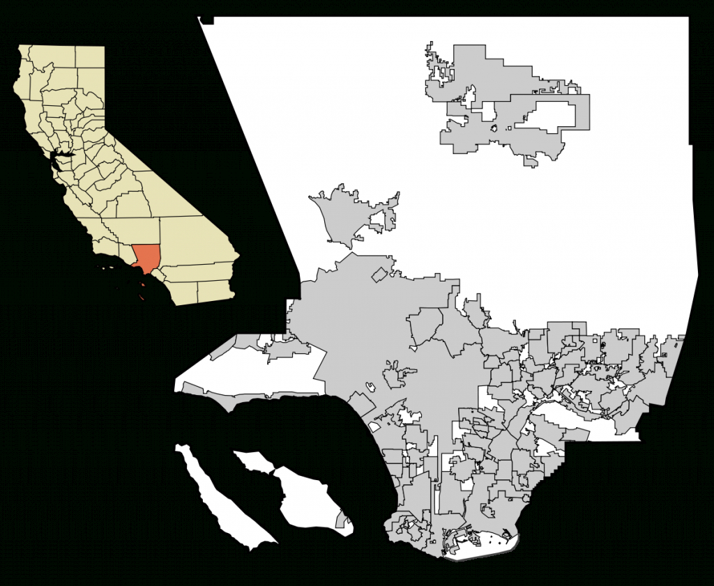 List Of Cities In Los Angeles County, California - Wikipedia - California Cities Map List