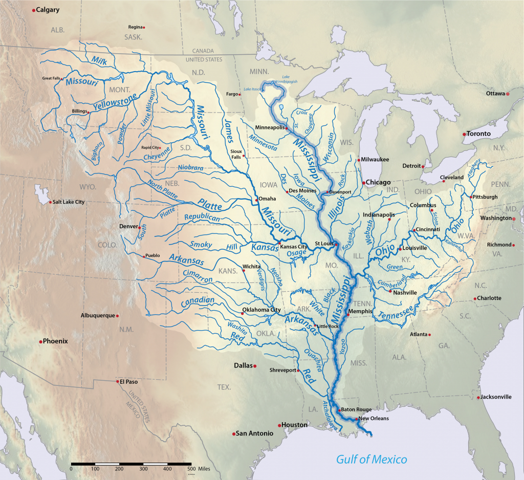 List Of Longest Rivers Of The United States (By Main Stem) - Wikipedia - Us Rivers Map Printable