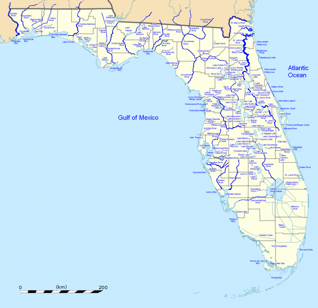 List Of Outstanding Florida Waters - Wikipedia - Florida Waterways Map
