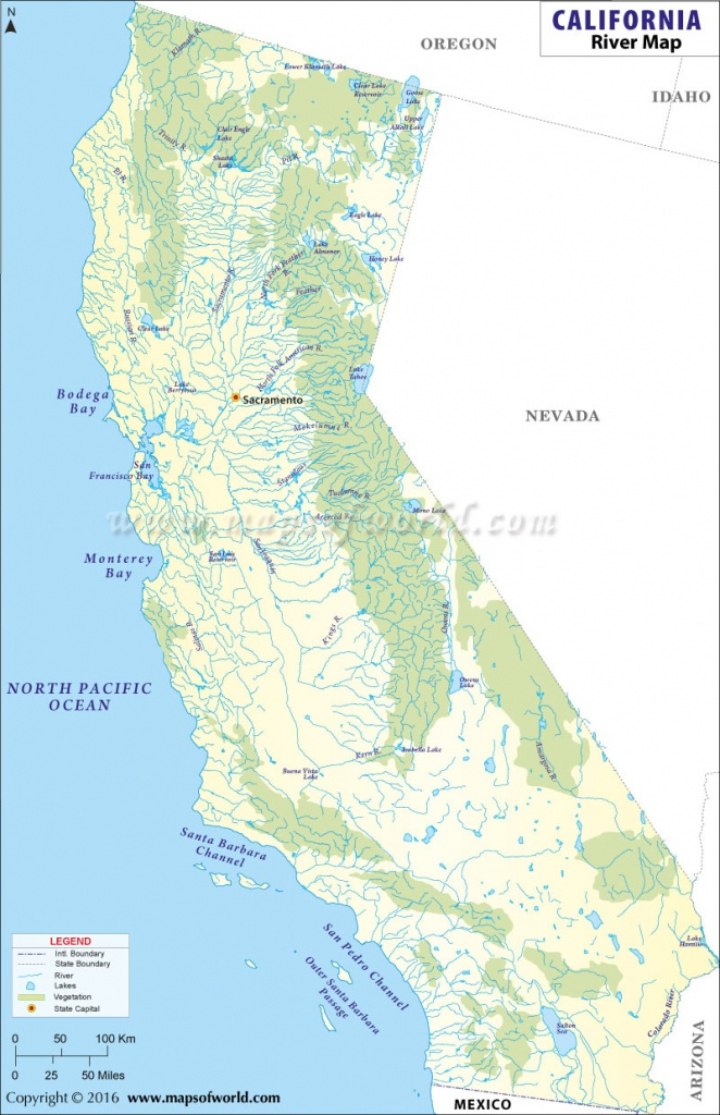 List Of Rivers In California | California River Map - Russian River California Map