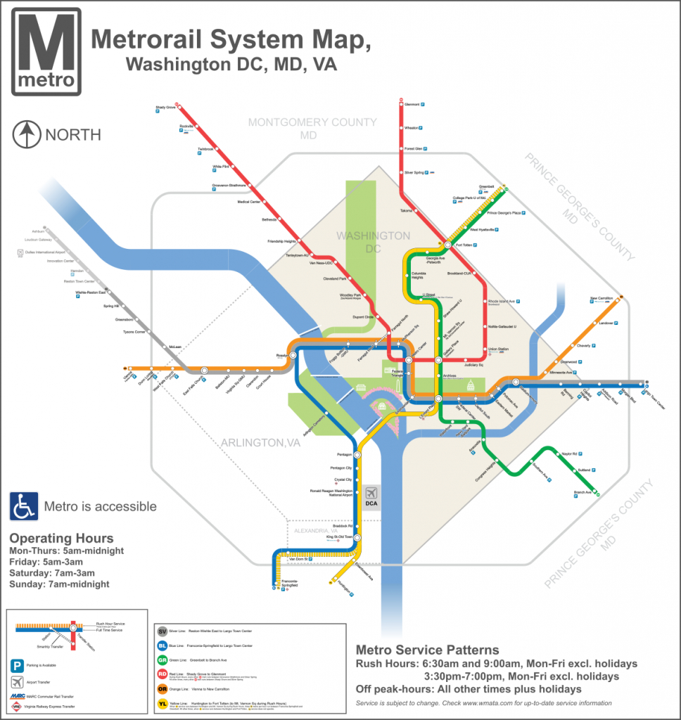 List Of Washington Metro Stations - Wikipedia - Printable Dc Metro Map