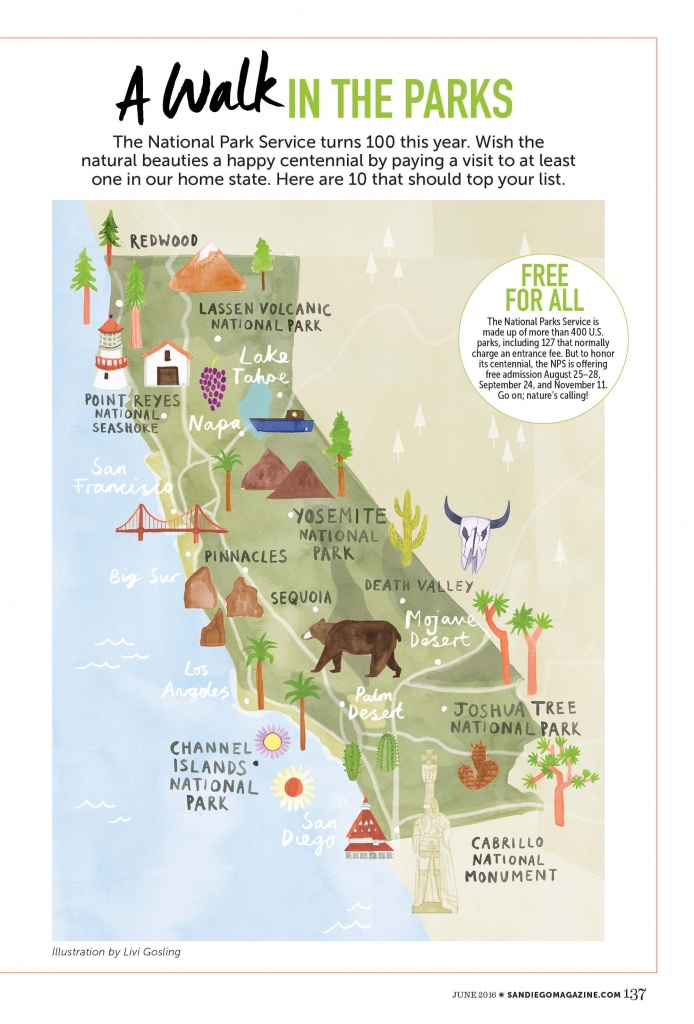 Livi Gosling - Map Of California National Parks | I'll Go Anywhere - Southern California Campgrounds Map