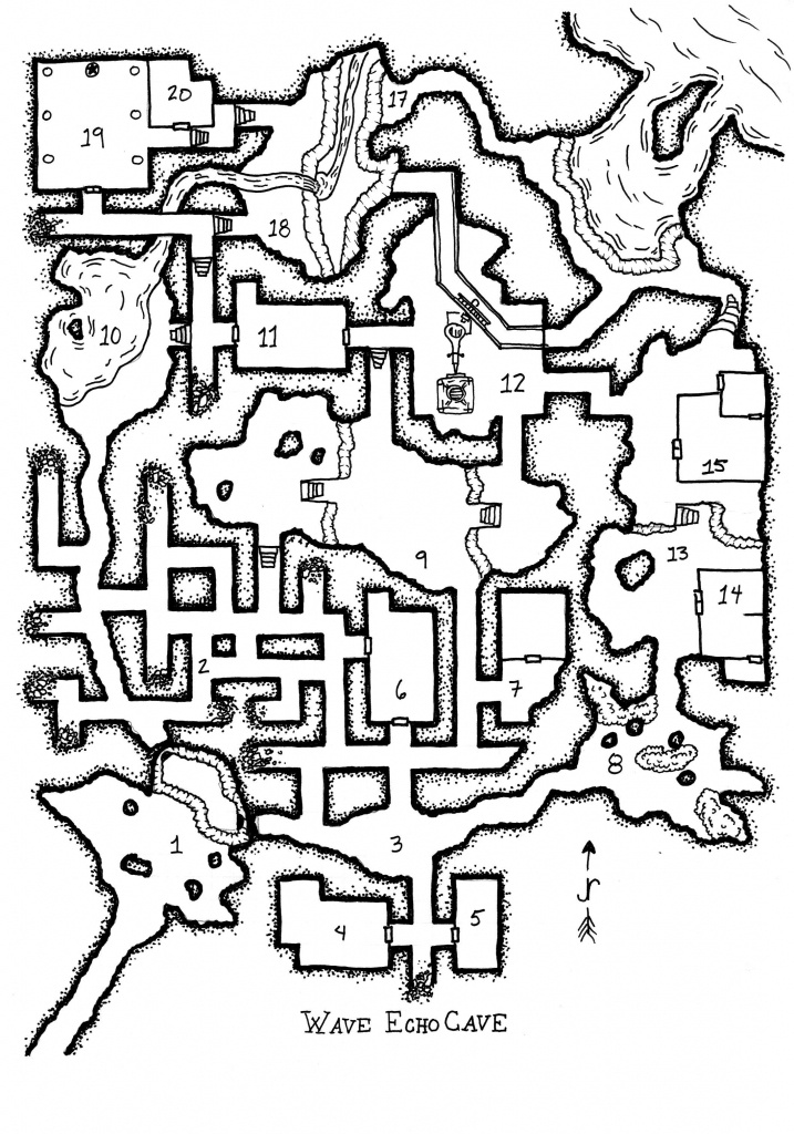Lmop Re-Rendering In 2019 | D&d Ideas | Fantasy Map, Dungeon Maps - Wave Echo Cave Map Printable