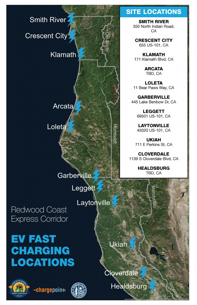 Local Charging Stations – Redwood Coast Energy Authority - Dc Fast Charging Stations California Map