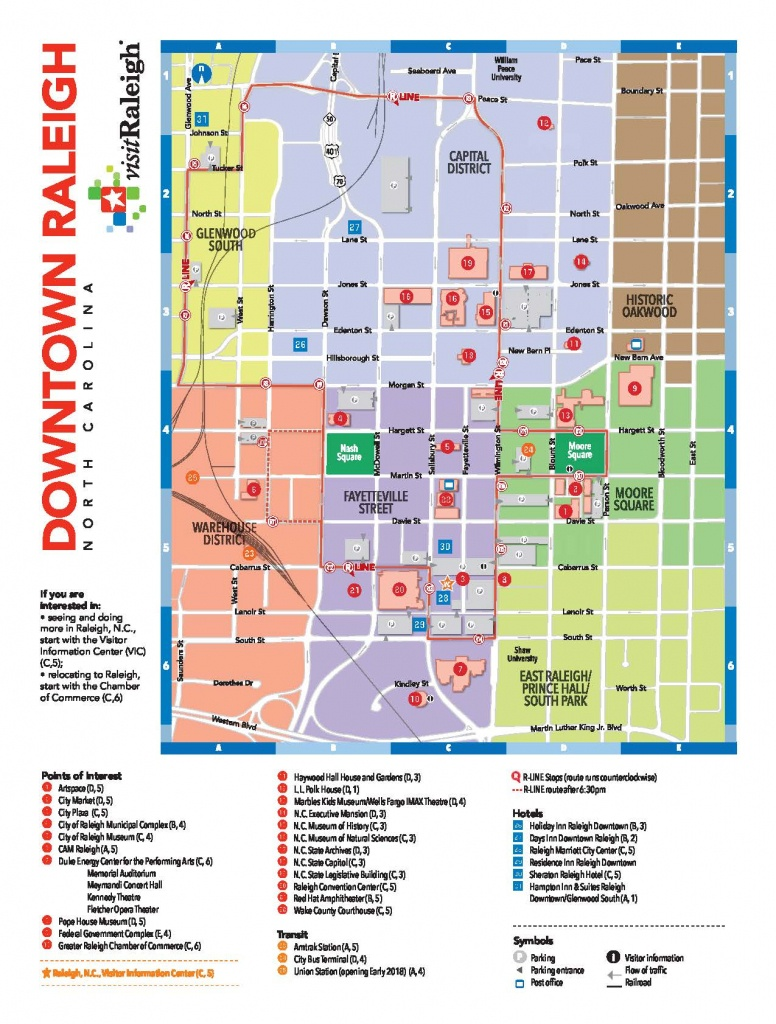 Local Gift Ideas For A Raleigh Wedding Welcome Bag - Printable Map Of Downtown Raleigh Nc
