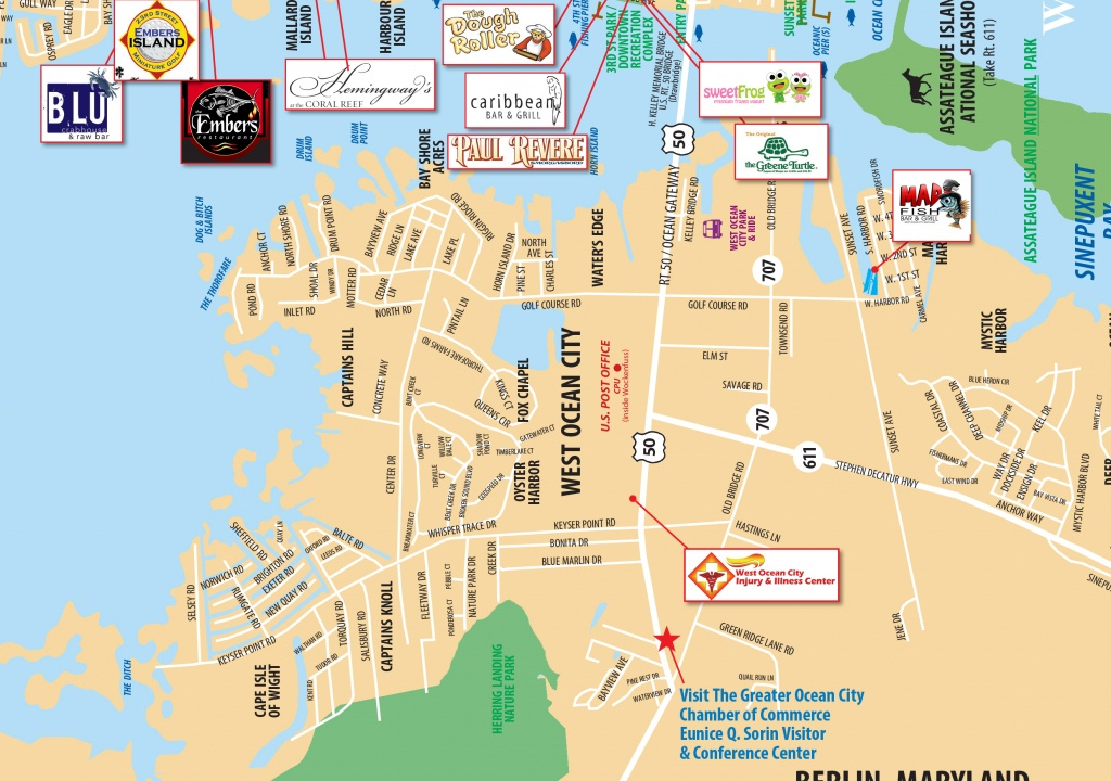 Local Maps | Ocean City Md Chamber Of Commerce - Printable Local Street Maps