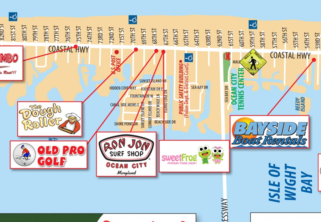 Local Maps | Ocean City Md Chamber Of Commerce - Printable Map Of Ocean City Md Boardwalk