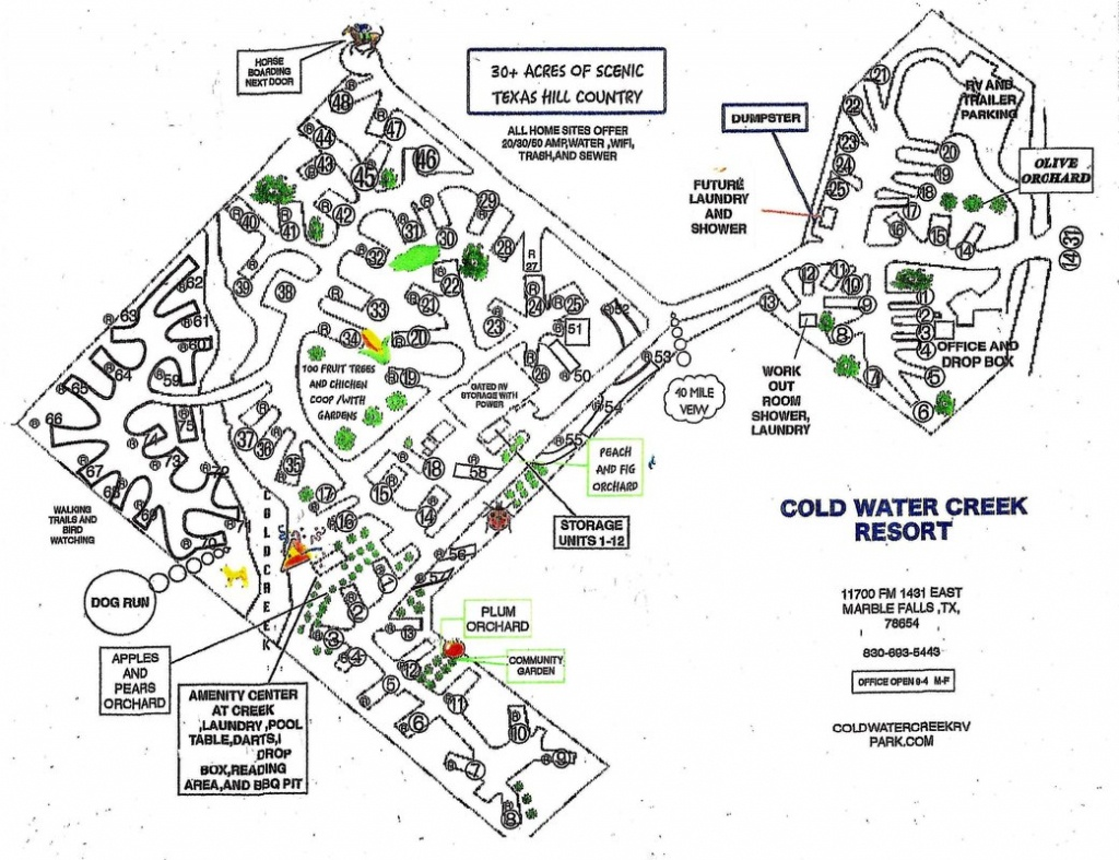 Location And Rv Park Map - Coldwater Creek Rv Park - Texas Rv Parks Map