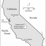 Location Map Of Sequoia And Kings Canyon National Parks, California - Sequoias In California Map
