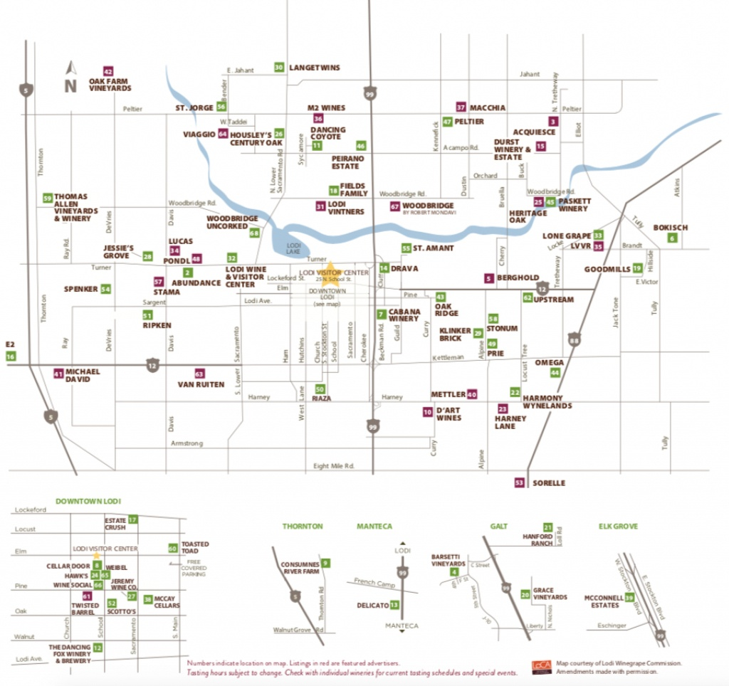Lodi Winery Map & Wine Trail - Visit Lodi - California Wine Trail Map