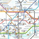 London Attraction Map With Tube – Uk Map   Printable Tourist Map Of London Attractions