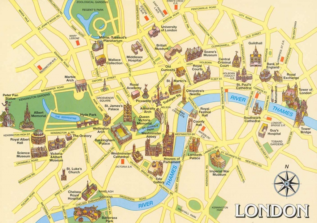 London Attractions Map Pdf - Free Printable Tourist Map London - Oxford Tourist Map Printable