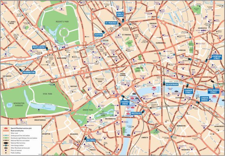 Printable Map Of London England