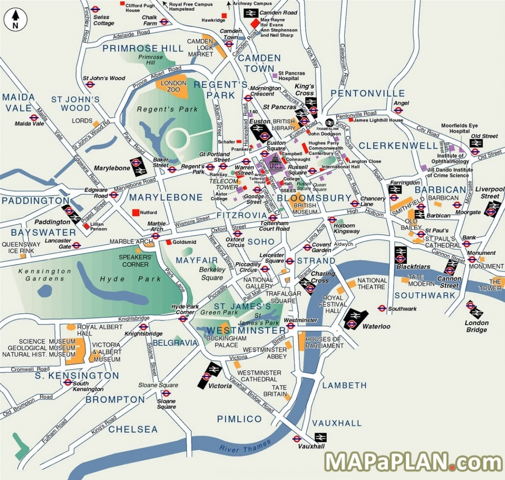 London Map Tourist Attractions And Of Printable - Capitalsource - Map Of London Attractions Printable