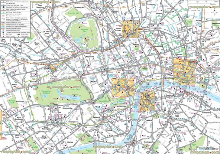 Printable Street Map Of Central London
