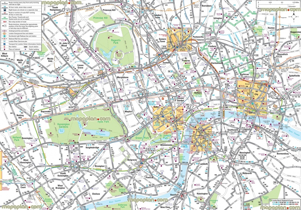 London Maps – Top Tourist Attractions – Free, Printable City Street - Printable Street Map Of Central London