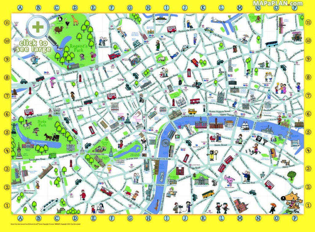London Top Tourist Attractions Map Things To Do With Kids Children - Printable Travel Maps For Kids