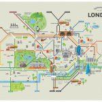 London Underground Map With Tourist Attractions Printable Interior   Map Of London Attractions Printable