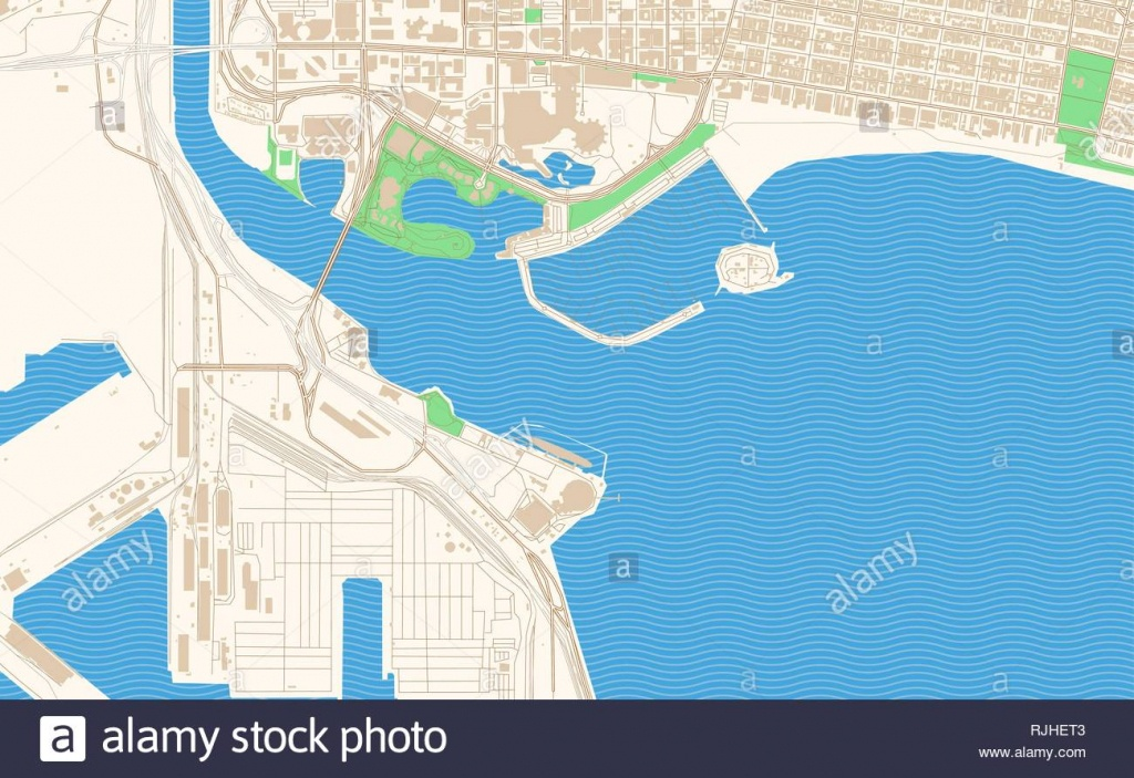 Long Beach California Printable Map Excerpt. This Vector Streetmap - Printable Map Of Long Beach Ca