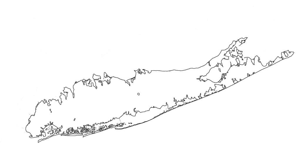 Long Island Blank Map - Map Of Long Island Blank (New York - Usa) - Printable Map Of Long Island