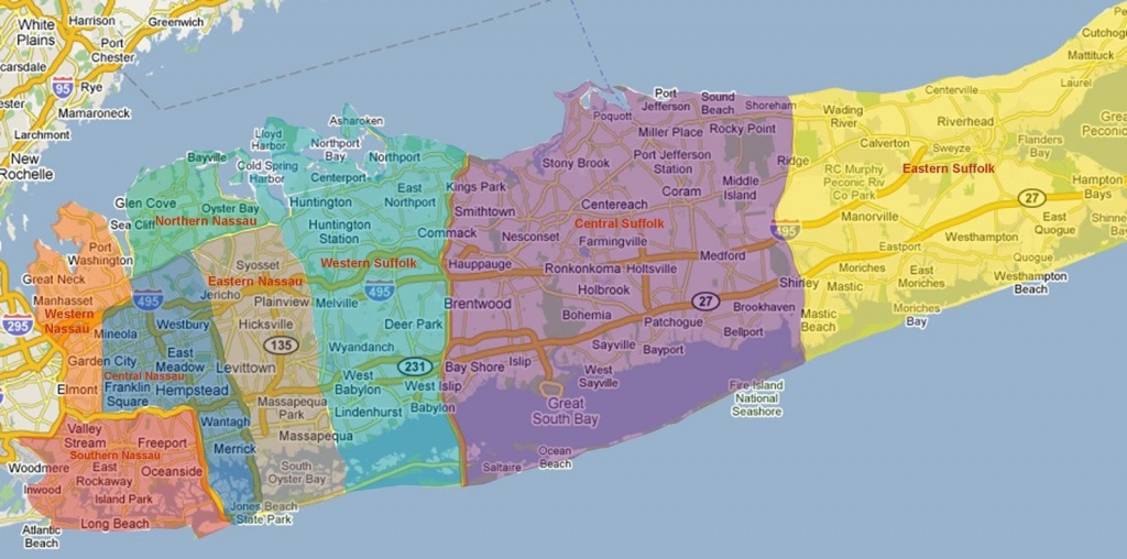 Long Island Neighborhoods Map - Map Of Long Island Neighborhoods - Printable Map Of Long Island Ny
