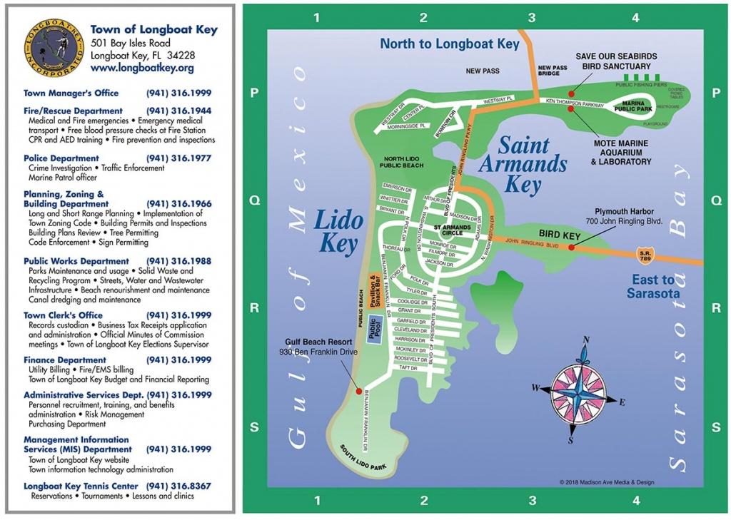 Longboat Key Map | Longboat Key Chamber Of Commerce - Map Of Hotels In Siesta Key Florida